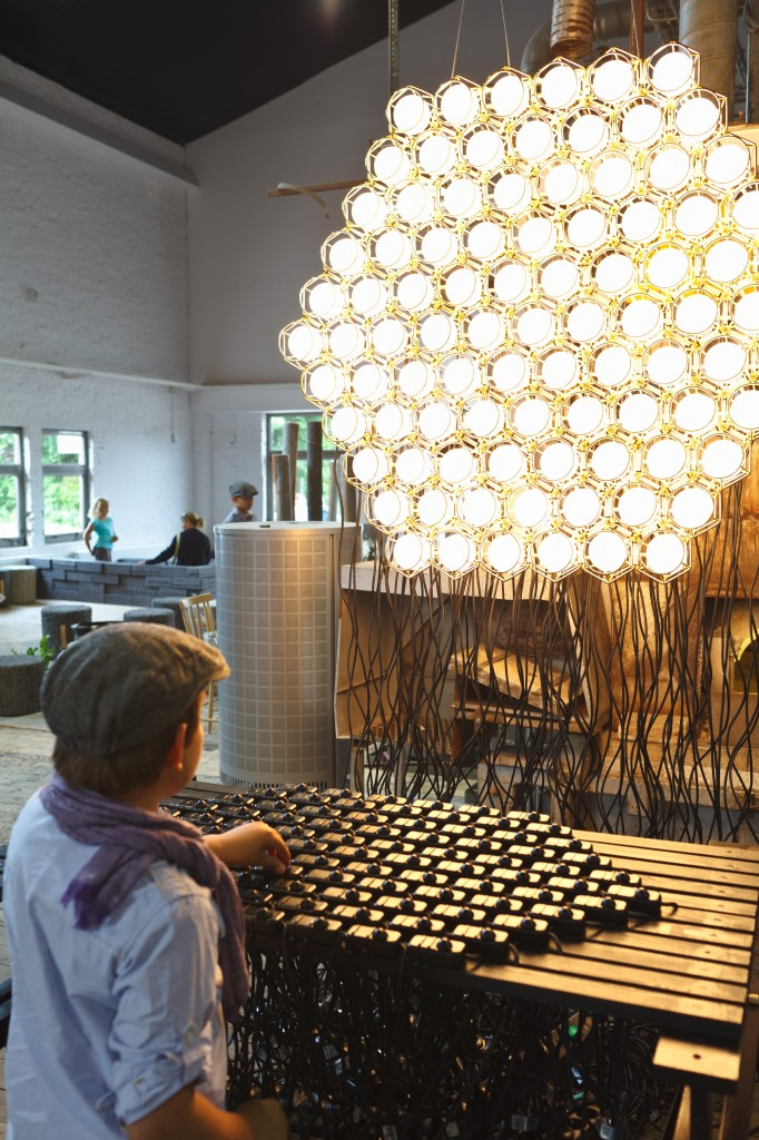 Form Us With Love design studio, Work Lamp installation - Design House Stockholm (Boda, OPEN concept store, 2011) copyright Miki Anagrius