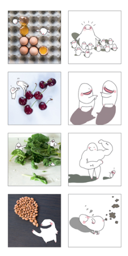 """You are what you eat"" Memory Game, by food designer Marije Vogelzang"