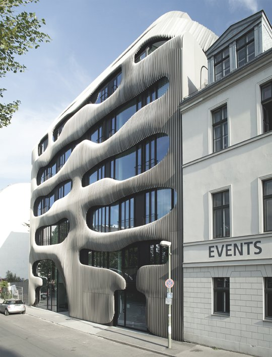 Joh3 building architecture organique berlin sleek design for Architecture organique
