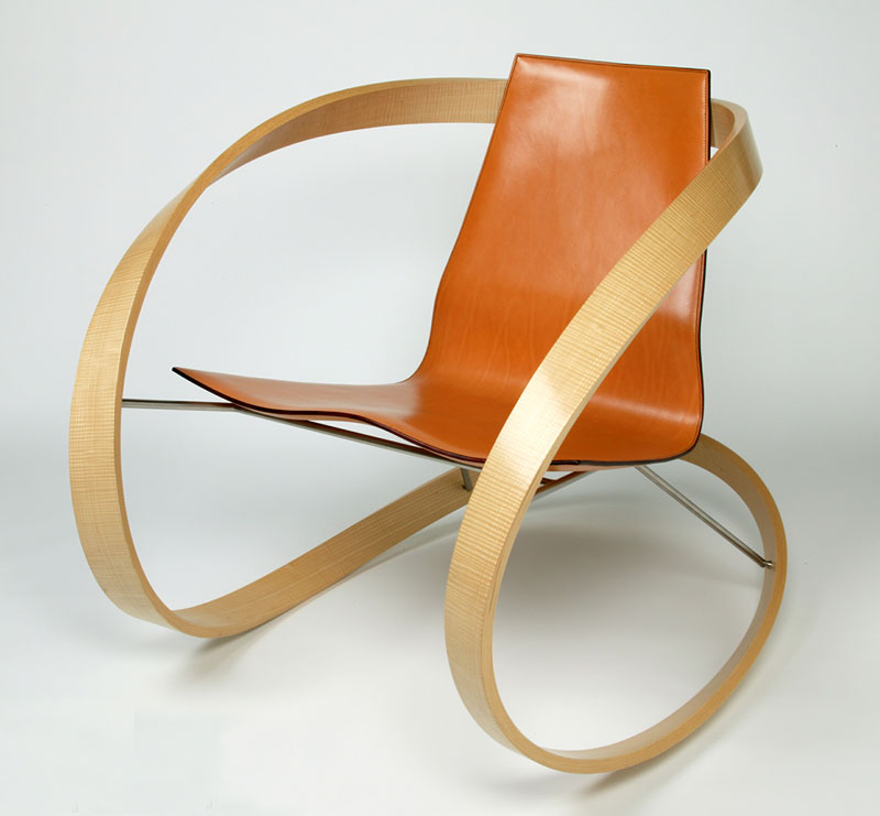 Katie walker ribbon rocking chair sleek design for Fauteuil rocking chair