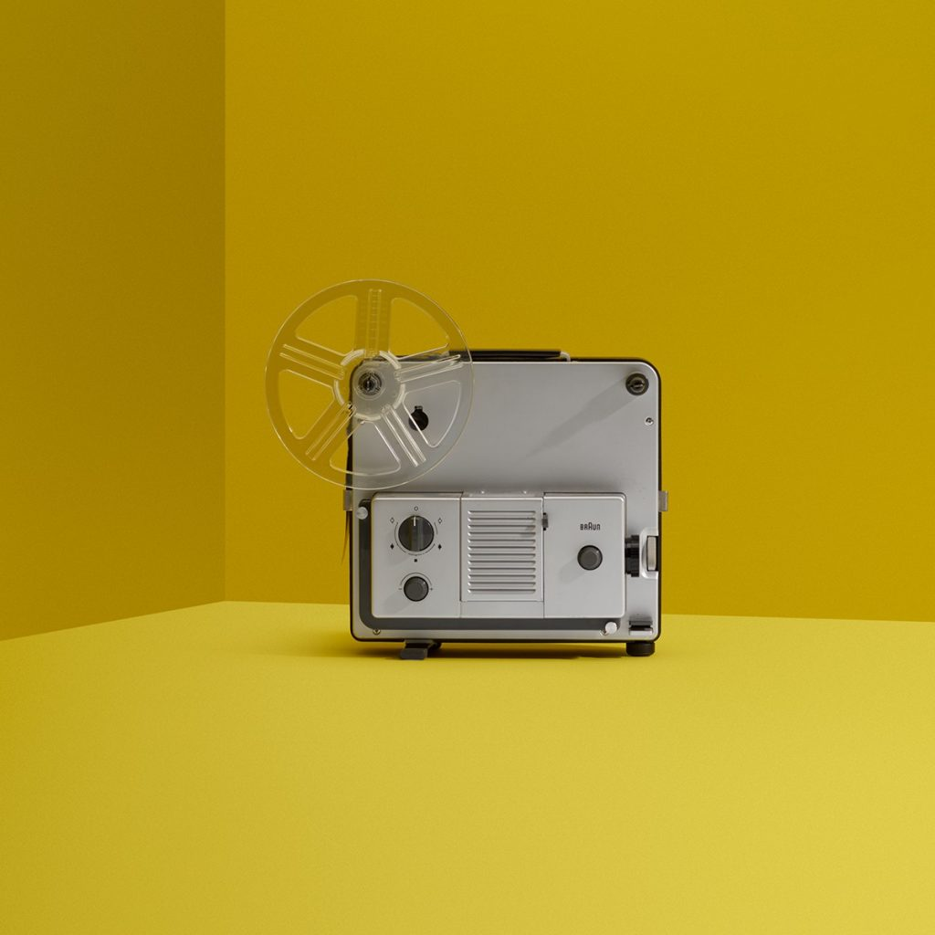 Dieter Rams FP 35 Super 8 Projector for Braun, 1972. Photo by Wright