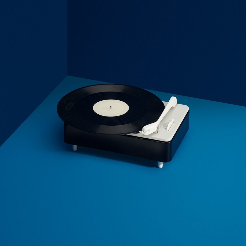 PC 3 SV turntable designed by Dieter Rams, Wilhelm Wagenfeld and Gerd Alfred Muller for Braun, 1956. Photo by Wright.